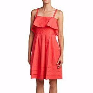 Eliza J NWT Pink Pleated Popover Dress